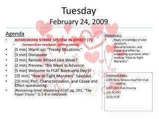 Tuesday February 24, 2009