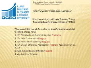 Where can I find more information on specific programs related to Illinois Energy Now?