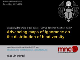 Advancing maps of ignorance on the distribution of biodiversity