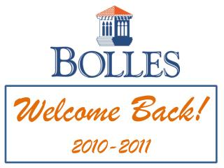 Welcome Back! 2010-2011
