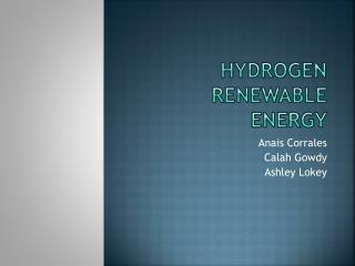 Hydrogen Renewable Energy