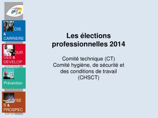 Les élections professionnelles  2014
