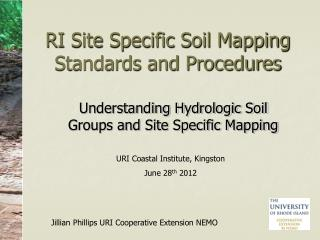 RI Site Specific Soil Mapping Standards and Procedures