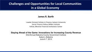 Challenges and Opportunities for Local Communities  in  a Global Economy