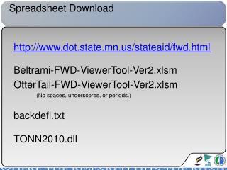Spreadsheet Download