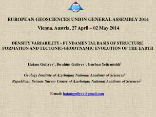 EUROPEAN GEOSCIENCES UNION GENERAL ASSEMBLY 2014