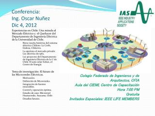 Conferencia : Ing. Oscar Nu ñez Dic  4, 2012