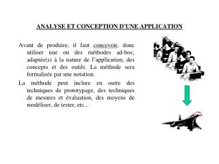ANALYSE ET CONCEPTION D'UNE APPLICATION