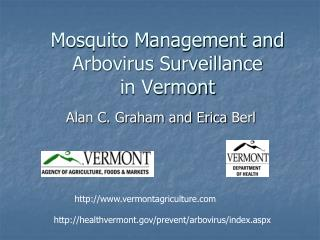 Mosquito Management and Arbovirus Surveillance  in Vermont
