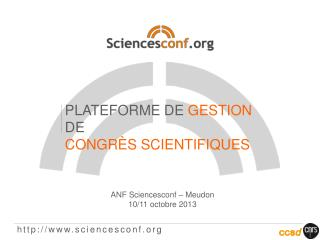 http://www.sciencesconf.org
