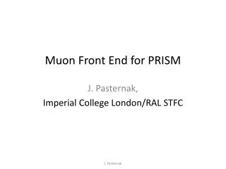 Muon  Front End for PRISM