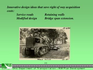 Innovative design ideas that save right of way  acquisition costs: