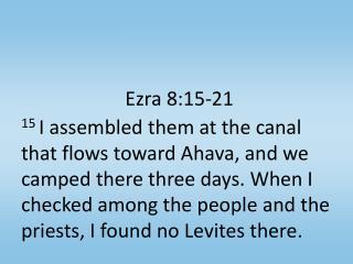 Ezra 8:15-21