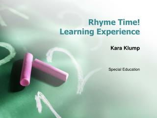 Rhyme Time! Learning Experience