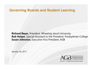 Governing Boards and Student Learning