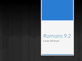 Romans 9.2