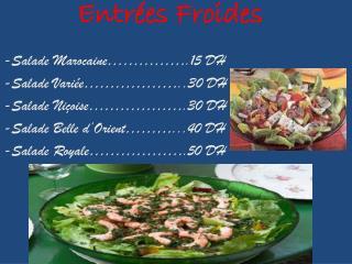 Entrées Froides
