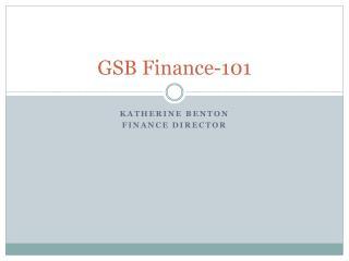 GSB Finance-101