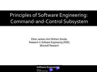 Principles of Software Engineering:  Command-and-Control Subsystem