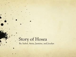 Story of Hosea
