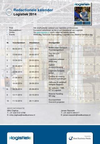 Redactionele kalender  Logistiek 2014