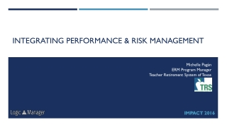 OVERVIEW OF ENTERPRISE RISK MANAGEMENT