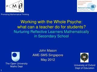 John Mason AME-SMS Singapore May 2012