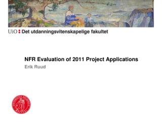 NFR Evaluation of 2011 Project Applications