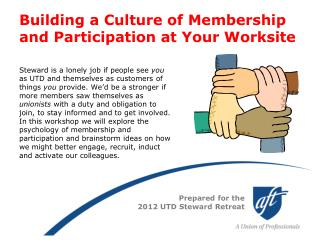 Building a Culture of Membership and Participation at Your Worksite
