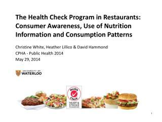 The Health Check Program in Restaurants: