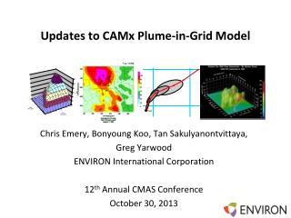 Updates to  CAMx Plume-in-Grid Model