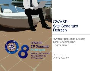 OWASP  Site Generator Refresh