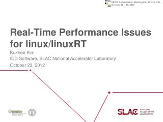 Real-Time Performance Issues for  linux / linuxRT