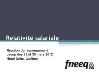Relativité salariale