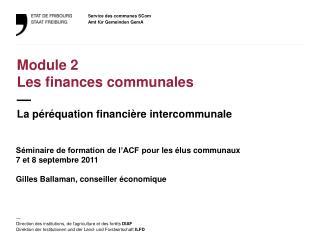 Séminaire de formation de l'ACF pour  les  élus  communaux 7 et 8 septembre 2011