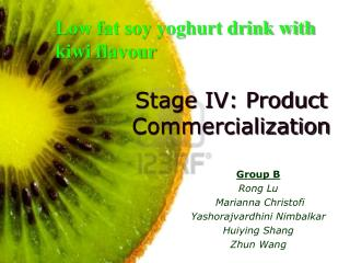 Stage IV: Product Commercialization