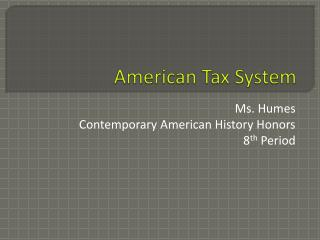 American Tax System