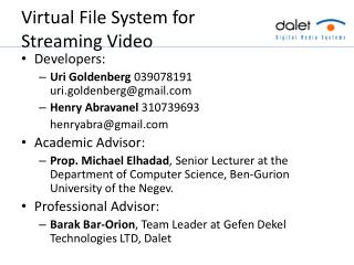 Virtual File System for Streaming Video