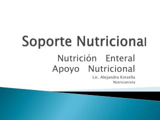 Soporte Nutriciona l