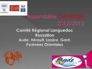 Assemblée  Générale  2012/2013