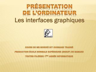 Cours de Mr  Moriké  dit Ousmane TRAORÉ Production École Normale Supérieure (ENSup) de Bamako