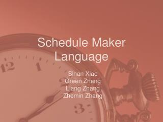 Schedule Maker Language