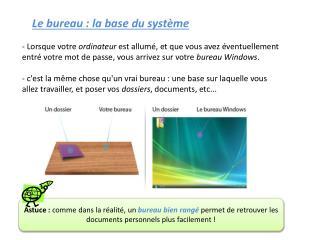 Le bureau : la base  du système