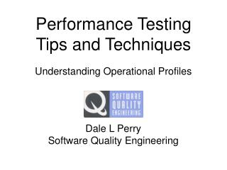 Performance Testing Tips and Techniques