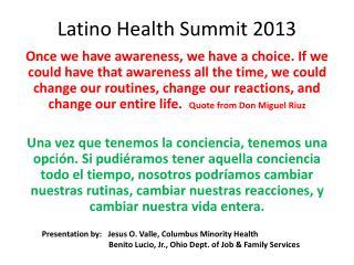 Latino Health Summit 2013