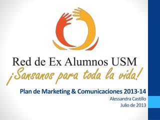 Plan de Marketing & Comunicaciones 2013-14 Alessandra Castillo Julio de 2013