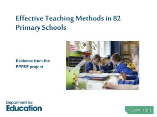 Effective Teaching Methods in 82 Primary Schools