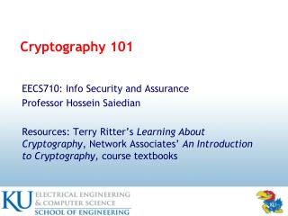 Cryptography 101