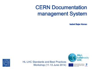 CERN Documentation management System Isabel Bejar Alonso