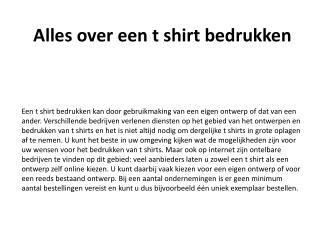 Alles over een t shirt bedrukken